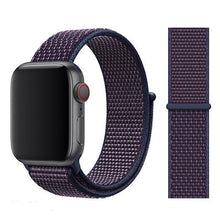 Load image into Gallery viewer, Apple Watch Band Nylon 38mm/40mm/42mm/44mm Elite Fitness Essentials China NEW Indigo 38mm or 40mm