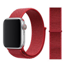 Load image into Gallery viewer, Apple Watch Band Nylon 38mm/40mm/42mm/44mm Elite Fitness Essentials China new red 38mm or 40mm