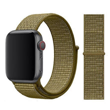 Load image into Gallery viewer, Apple Watch Band Nylon 38mm/40mm/42mm/44mm Elite Fitness Essentials China Olive Flak 38mm or 40mm