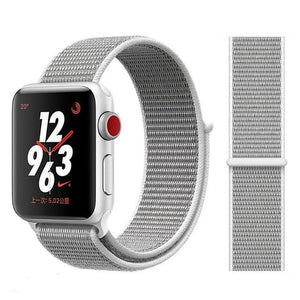 Apple Watch Band Nylon 38mm/40mm/42mm/44mm Elite Fitness Essentials China Pearl 38mm or 40mm