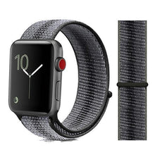 Load image into Gallery viewer, Apple Watch Band Nylon 38mm/40mm/42mm/44mm Elite Fitness Essentials China strip black 23 42mm or 44mm