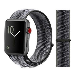 Apple Watch Band Nylon 38mm/40mm/42mm/44mm Elite Fitness Essentials China strip black 23 42mm or 44mm