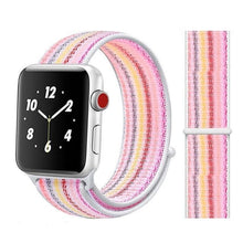 Load image into Gallery viewer, Apple Watch Band Nylon 38mm/40mm/42mm/44mm Elite Fitness Essentials China strip pink 28 42mm or 44mm