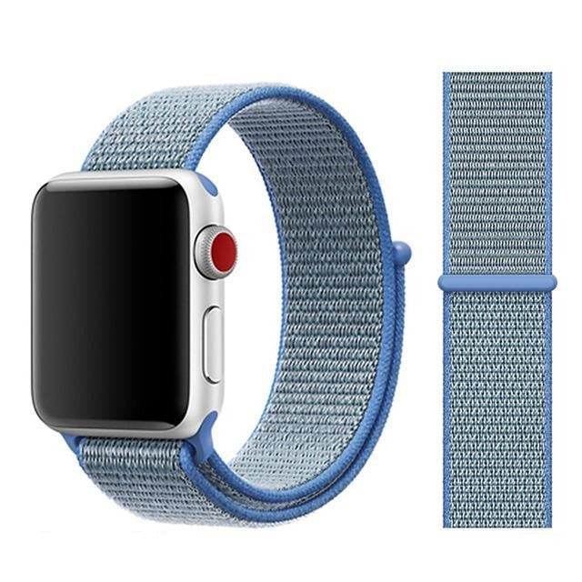 Apple Watch Band Nylon 38mm/40mm/42mm/44mm Elite Fitness Essentials China tahoe blue 38mm or 40mm