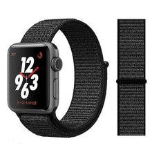Load image into Gallery viewer, Apple Watch Band Nylon 38mm/40mm/42mm/44mm Elite Fitness Essentials China whole black 38mm or 40mm