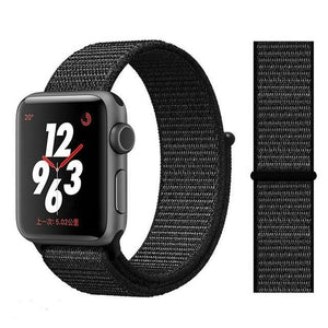 Apple Watch Band Nylon 38mm/40mm/42mm/44mm Elite Fitness Essentials China whole black 38mm or 40mm
