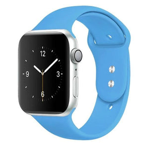 Apple Watch Band Silicone 38mm/40mm/42mm/44mm Elite Fitness Essentials 03 Blue 42MM OR 44MM ML