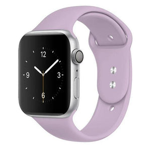 Apple Watch Band Silicone 38mm/40mm/42mm/44mm Elite Fitness Essentials 07 Light purple 42MM OR 44MM ML