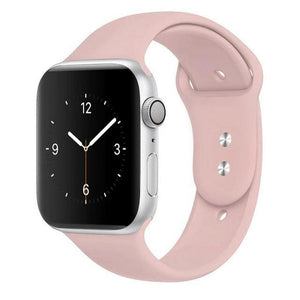 Apple Watch Band Silicone 38mm/40mm/42mm/44mm Elite Fitness Essentials 08 Pink 42MM OR 44MM ML