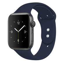 Load image into Gallery viewer, Apple Watch Band Silicone 38mm/40mm/42mm/44mm Elite Fitness Essentials 09 Midnight blue 42MM OR 44MM ML