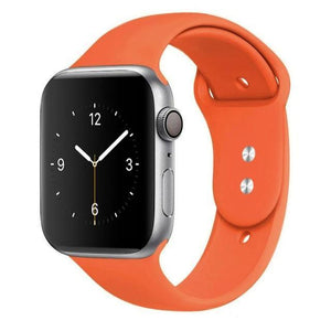 Apple Watch Band Silicone 38mm/40mm/42mm/44mm Elite Fitness Essentials 13 Orange 42MM OR 44MM ML