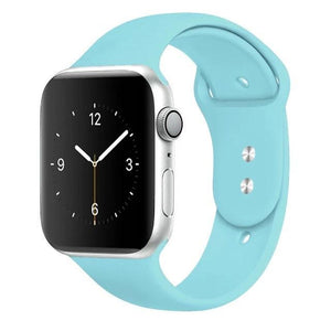 Apple Watch Band Silicone 38mm/40mm/42mm/44mm Elite Fitness Essentials 15 Turquise 42MM OR 44MM ML