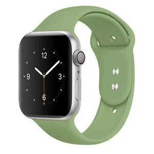 Apple Watch Band Silicone 38mm/40mm/42mm/44mm Elite Fitness Essentials 16 Mint 42MM OR 44MM ML
