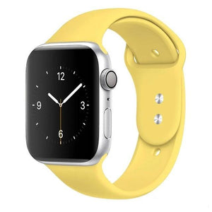 Apple Watch Band Silicone 38mm/40mm/42mm/44mm Elite Fitness Essentials 20 Yellow 42MM OR 44MM ML