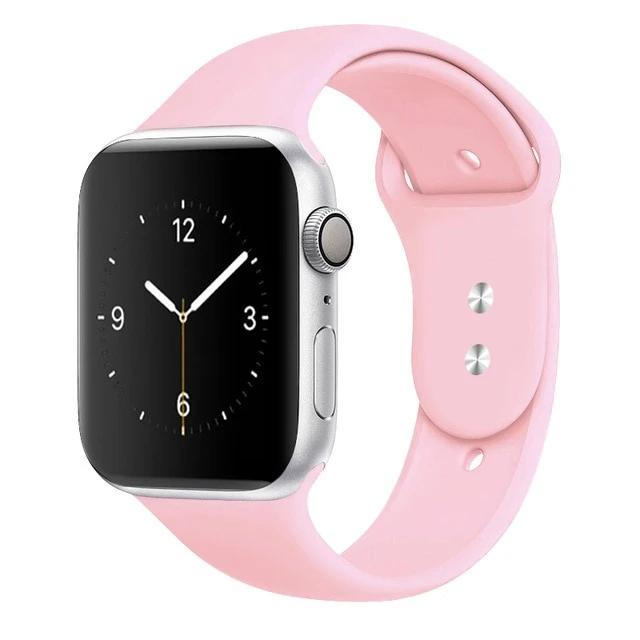 Apple Watch Band Silicone 38mm/40mm/42mm/44mm Elite Fitness Essentials 21 Light pink 42MM OR 44MM ML