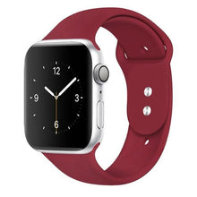 Load image into Gallery viewer, Apple Watch Band Silicone 38mm/40mm/42mm/44mm Elite Fitness Essentials 25 marroon 42MM OR 44MM ML