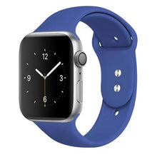 Load image into Gallery viewer, Apple Watch Band Silicone 38mm/40mm/42mm/44mm Elite Fitness Essentials 37 Delft Blue 42MM OR 44MM ML