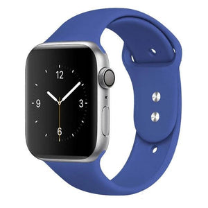 Apple Watch Band Silicone 38mm/40mm/42mm/44mm Elite Fitness Essentials 37 Delft Blue 42MM OR 44MM ML