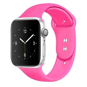 Apple Watch Band Silicone 38mm/40mm/42mm/44mm Elite Fitness Essentials 38 Barbie Pink 42MM OR 44MM ML