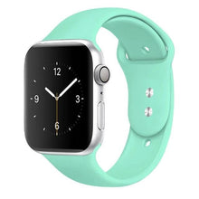 Load image into Gallery viewer, Apple Watch Band Silicone 38mm/40mm/42mm/44mm Elite Fitness Essentials 39 brilliant green 42MM OR 44MM ML