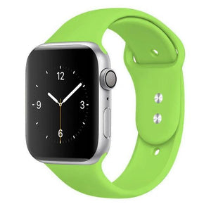 Apple Watch Band Silicone 38mm/40mm/42mm/44mm Elite Fitness Essentials 4 Green 42MM OR 44MM ML