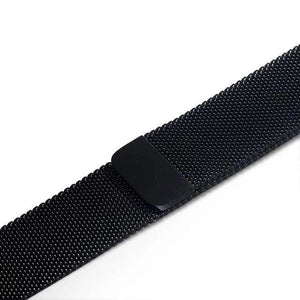 Apple Watch Band Stainless Steel Mesh w/ Magnetic Buckle 38mm/40mm/42mm/44mm Elite Fitness Essentials Black 38MM-40MM