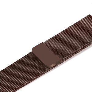 Apple Watch Band Stainless Steel Mesh w/ Magnetic Buckle 38mm/40mm/42mm/44mm Elite Fitness Essentials Brown 42MM-44MM