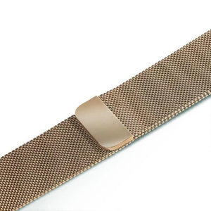 Apple Watch Band Stainless Steel Mesh w/ Magnetic Buckle 38mm/40mm/42mm/44mm Elite Fitness Essentials Champagne gold 38MM-40MM