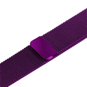 Apple Watch Band Stainless Steel Mesh w/ Magnetic Buckle 38mm/40mm/42mm/44mm Elite Fitness Essentials Dark purple 42MM-44MM