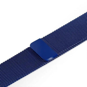 Apple Watch Band Stainless Steel Mesh w/ Magnetic Buckle 38mm/40mm/42mm/44mm Elite Fitness Essentials Deep Blue 38MM-40MM