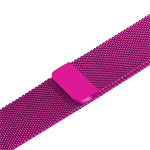 Apple Watch Band Stainless Steel Mesh w/ Magnetic Buckle 38mm/40mm/42mm/44mm Elite Fitness Essentials Dragon fruit 42MM-44MM