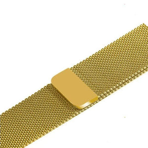 Apple Watch Band Stainless Steel Mesh w/ Magnetic Buckle 38mm/40mm/42mm/44mm Elite Fitness Essentials Gold 42MM-44MM
