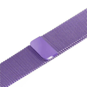 Apple Watch Band Stainless Steel Mesh w/ Magnetic Buckle 38mm/40mm/42mm/44mm Elite Fitness Essentials Lacender Colour 38MM-40MM