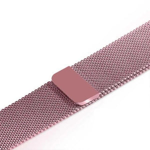 Apple Watch Band Stainless Steel Mesh w/ Magnetic Buckle 38mm/40mm/42mm/44mm Elite Fitness Essentials Pink Gold 38MM-40MM