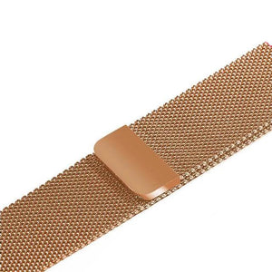 Apple Watch Band Stainless Steel Mesh w/ Magnetic Buckle 38mm/40mm/42mm/44mm Elite Fitness Essentials Rose gold 38MM-40MM