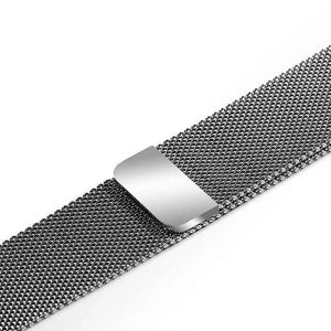 Apple Watch Band Stainless Steel Mesh w/ Magnetic Buckle 38mm/40mm/42mm/44mm Elite Fitness Essentials Silver 38MM-40MM