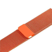 Load image into Gallery viewer, Apple Watch Band Stainless Steel Mesh w/ Magnetic Buckle 38mm/40mm/42mm/44mm Elite Fitness Essentials Vibrant orange 42MM-44MM