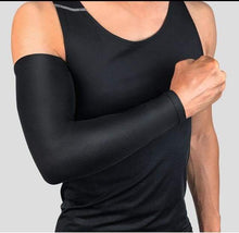 Load image into Gallery viewer, Breathable Arm Sleeve with UV Protection Elite Fitness Essentials Black M