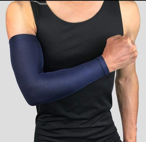 Breathable Arm Sleeve with UV Protection Elite Fitness Essentials Dark blue M