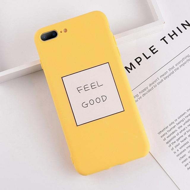 Cartoon & Quote iPhone Case Elite Fitness Essentials for iphone 6s Plus Feel Good
