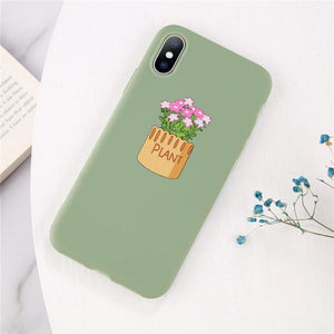 Cartoon & Quote iPhone Case Elite Fitness Essentials for iphone 7 8 Plus Plant