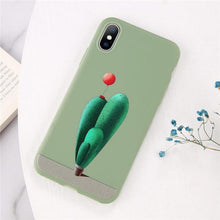 Load image into Gallery viewer, Cartoon & Quote iPhone Case Elite Fitness Essentials for iphone X XS Cactus