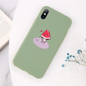 Cartoon & Quote iPhone Case Elite Fitness Essentials for iphone X XS Watermelon Head