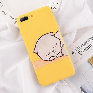 Cartoon & Quote iPhone Case Elite Fitness Essentials for iphone XS Max Sleepy Cat