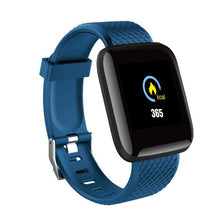 Load image into Gallery viewer, Elite Fitness Tracker w/ HR & BP Monitor Elite Fitness Essentials Blue
