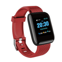 Load image into Gallery viewer, Elite Fitness Tracker w/ HR & BP Monitor Elite Fitness Essentials Red