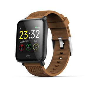 Elite Smart Watch w/ HR & BP Monitor Elite Fitness Essentials Brown