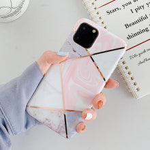 Load image into Gallery viewer, Geometric Marble Print iPhone Case Elite Fitness Essentials For 7 Plus or 8 Plus i