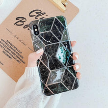 Load image into Gallery viewer, Geometric Marble Print iPhone Case Elite Fitness Essentials For 7 Plus or 8 Plus q