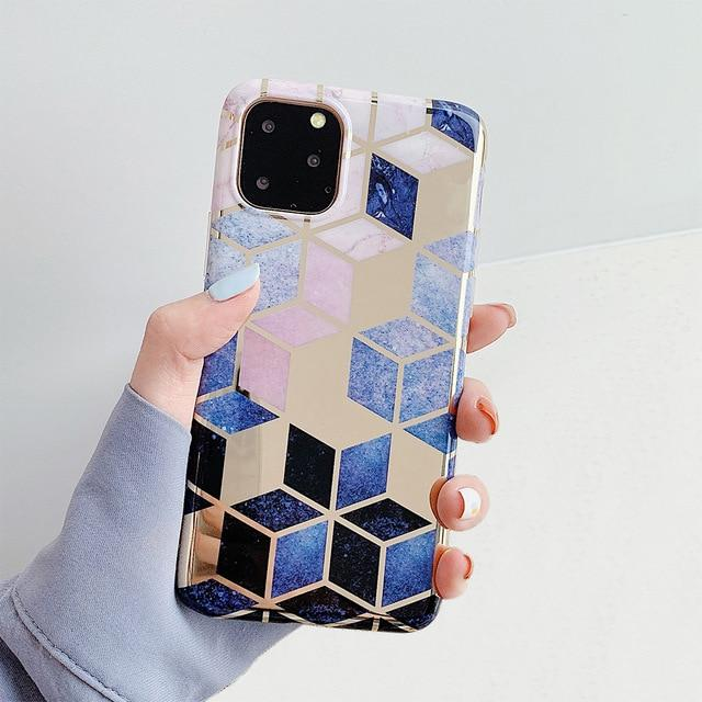 Geometric Marble Print iPhone Case Elite Fitness Essentials For iPhone 6 6S k